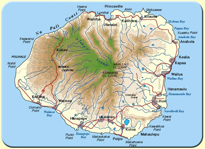 February 2012 – Tourist Map Of Kauai